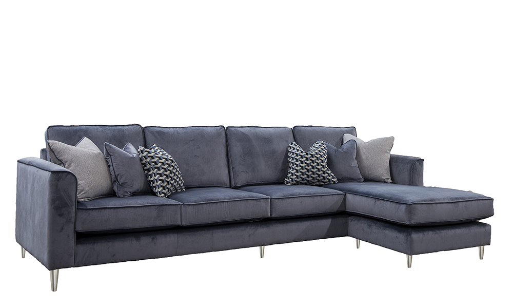 Nolan 4 Seater Chaise End Sofa in a Discontinued Fabric
