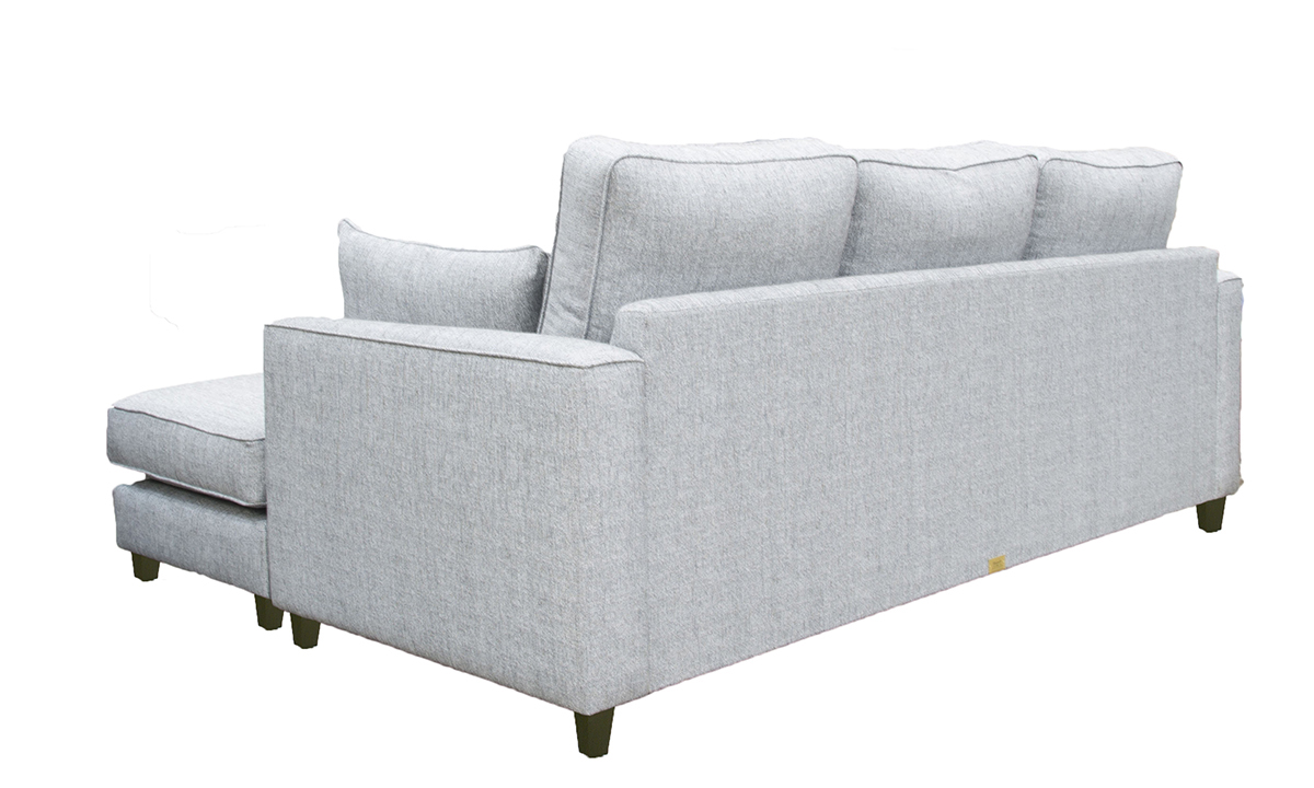 Nolan Chaise End in  Silver Collection Fabric