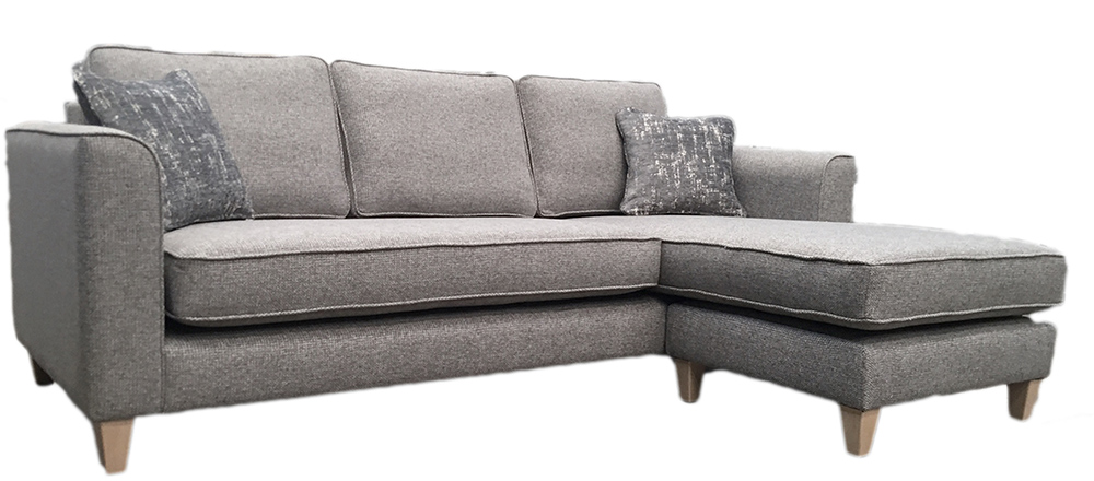 Nolan Chaise with Bench Seat Cushion - Milwaulkee Grey side