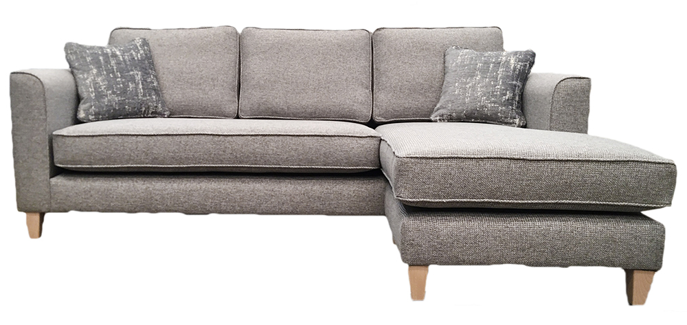 Nolan Chaise with Bench Seat Cushion - Milwaulkee Grey