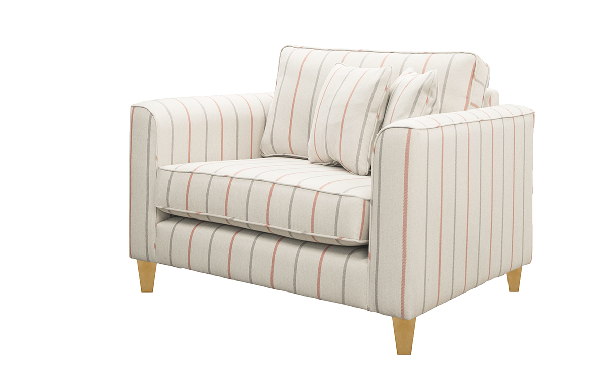 Nolan Love Seat Quattro 2119, Platinum Collection Fabric