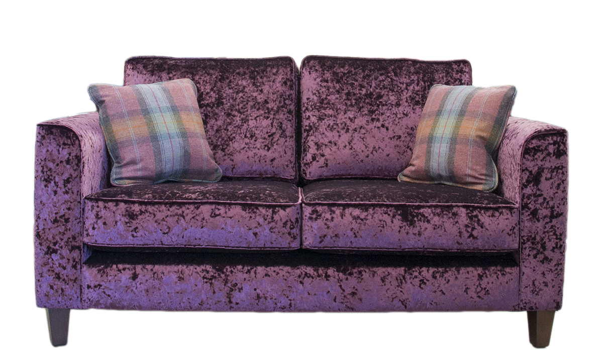 Nolan 2 Seater Sofa in a Silver Collection Fabric