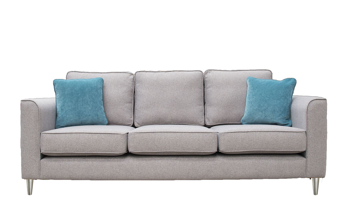 Nolan Large Sofa in Belize Azzure, Bronze Collection Fabric