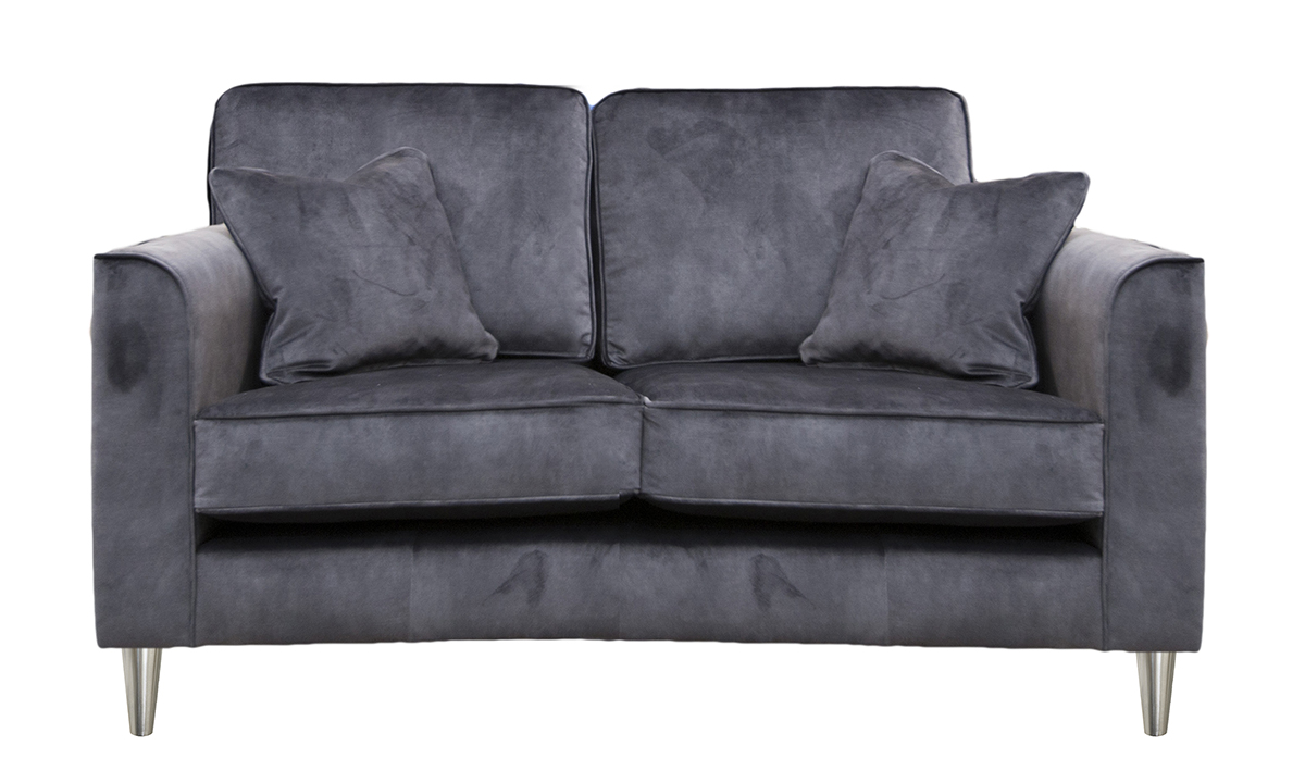 Nolan 2 Seater Sofa in Lovely Coal, Gold Collection Fabric