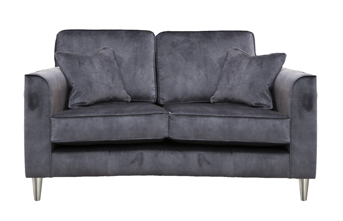 Nolan 3 Seater Chasie End Sofa in Lovely Coal Gold Collection Fabric