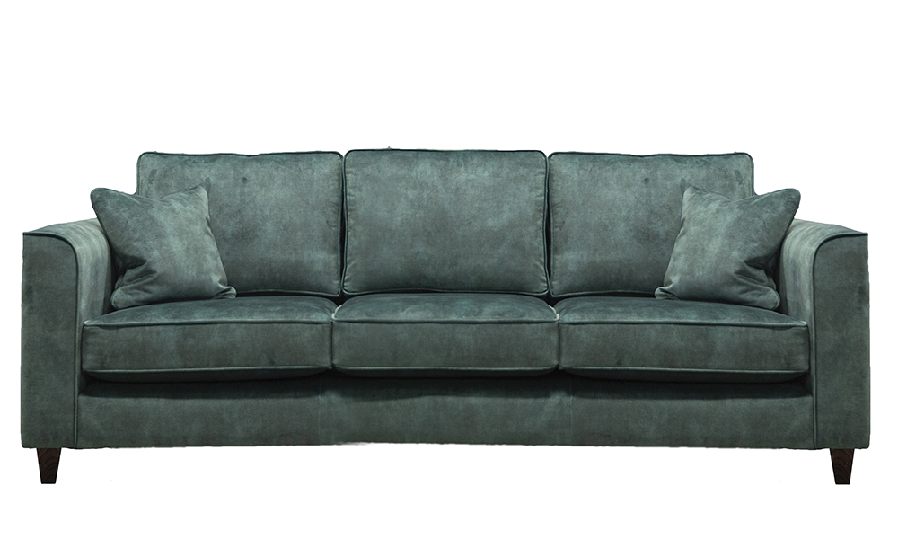 Nolan 3 Seater in Lovely Emerald, Gold Collection Fabric