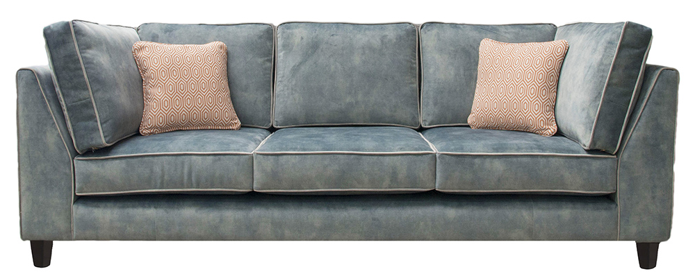 Nolan Bespoke Sofa - Logan Corner Arms, 3 Back Cushions, 3 Seat Cushions, 2 Side back Cushions