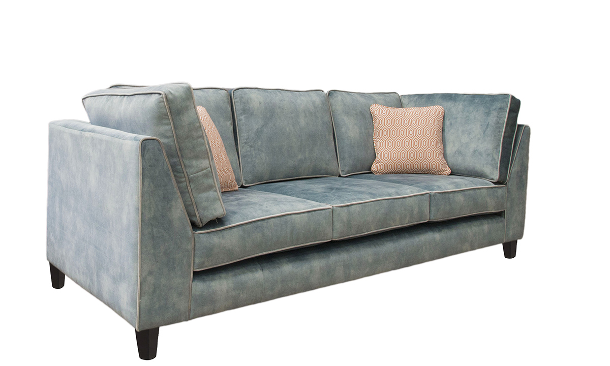 Bespoke Nolan Large Sofa in Lovely Jade, Gold Collection