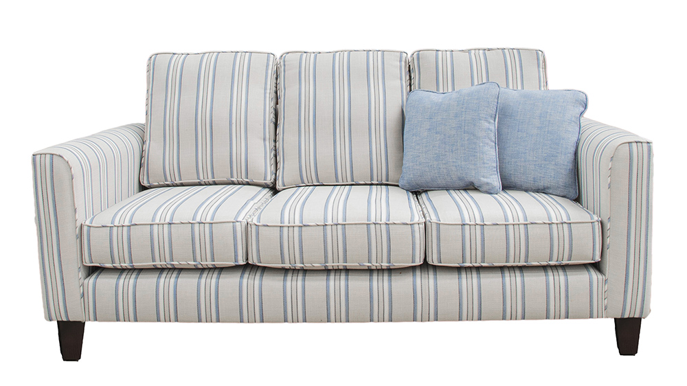 Nolan Large Sofa -(Bespoke - Back Cushions Raised 3%22 - Length 78%22) Nolan Large Sofa Side -(Bespoke - Back Cushions Raised 3%22 - Length 78%22) - Varadi Stripe