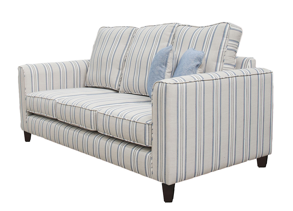 Nolan Large Sofa Side -(Bespoke - Back Cushions Raised 3%22 - Length 78%22) - Varadi Stripe