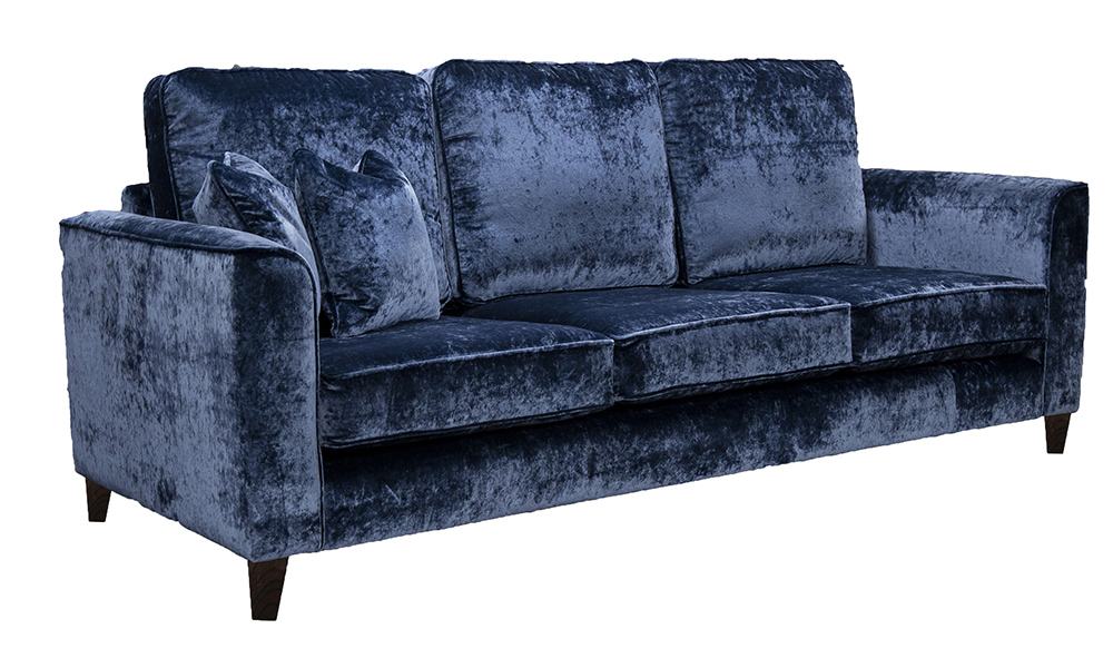 Nolan 3 Seater Sofa in VStella Royal, Platinium Collection Fabric