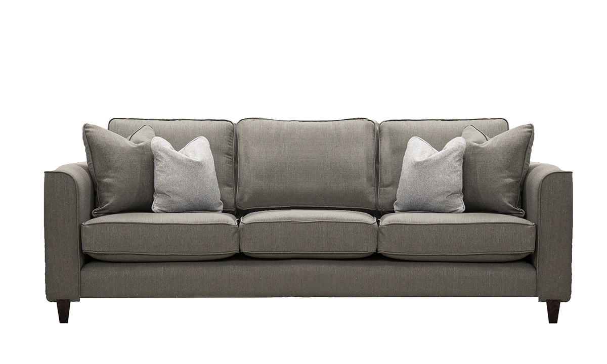 Nolan 3 Seater Sofa in Aosta Putty, Silver Collection fabric