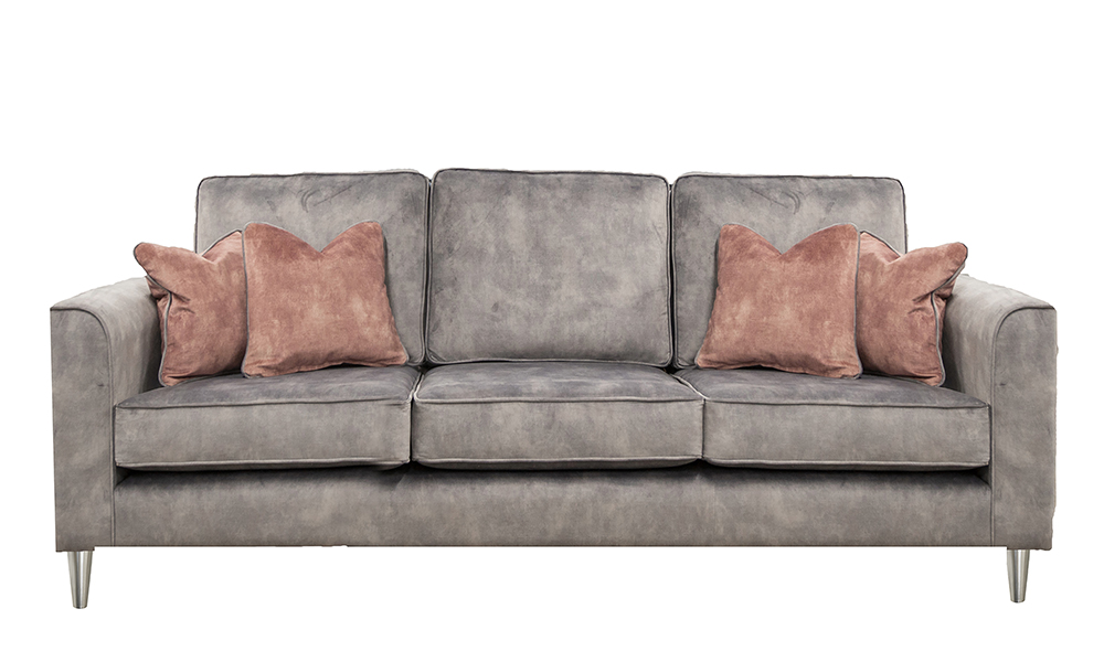 Nolan 3 Seater Sofa in Lovely Armour, Gold Collection Fabric