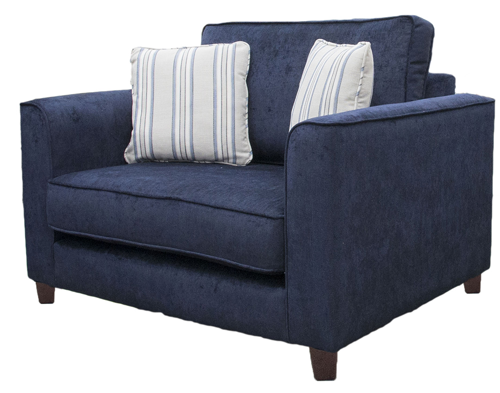 Nolan Love Seat - Edinburgh Carbon