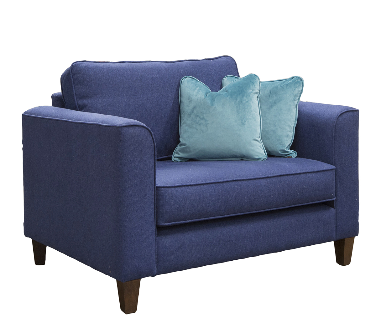 Nolan Love Seat Side in San Francisco Blue Bronze Collection