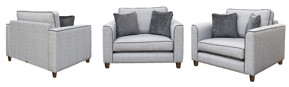 Nolan Love Seat Silver Collection – Aosta