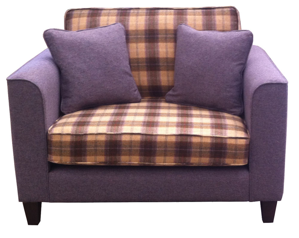 Nolan Love Seat Sofa - Plaid