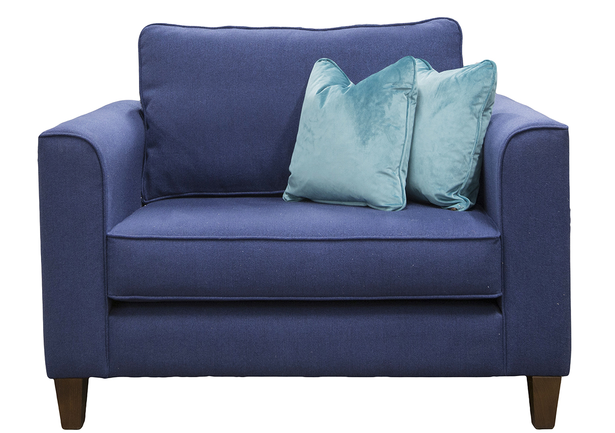 Nolan Love Seat in San Francisco Blue Bronze Collection