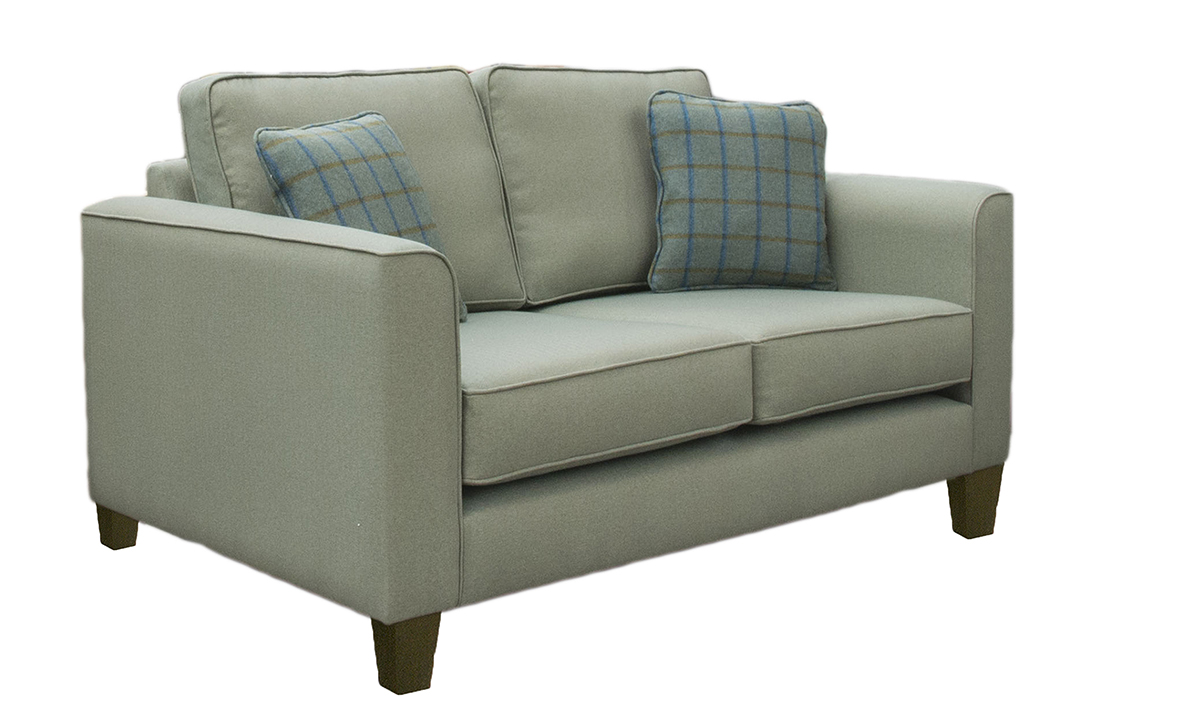 Nolan Small Sofa in a Silver Collection Fabric