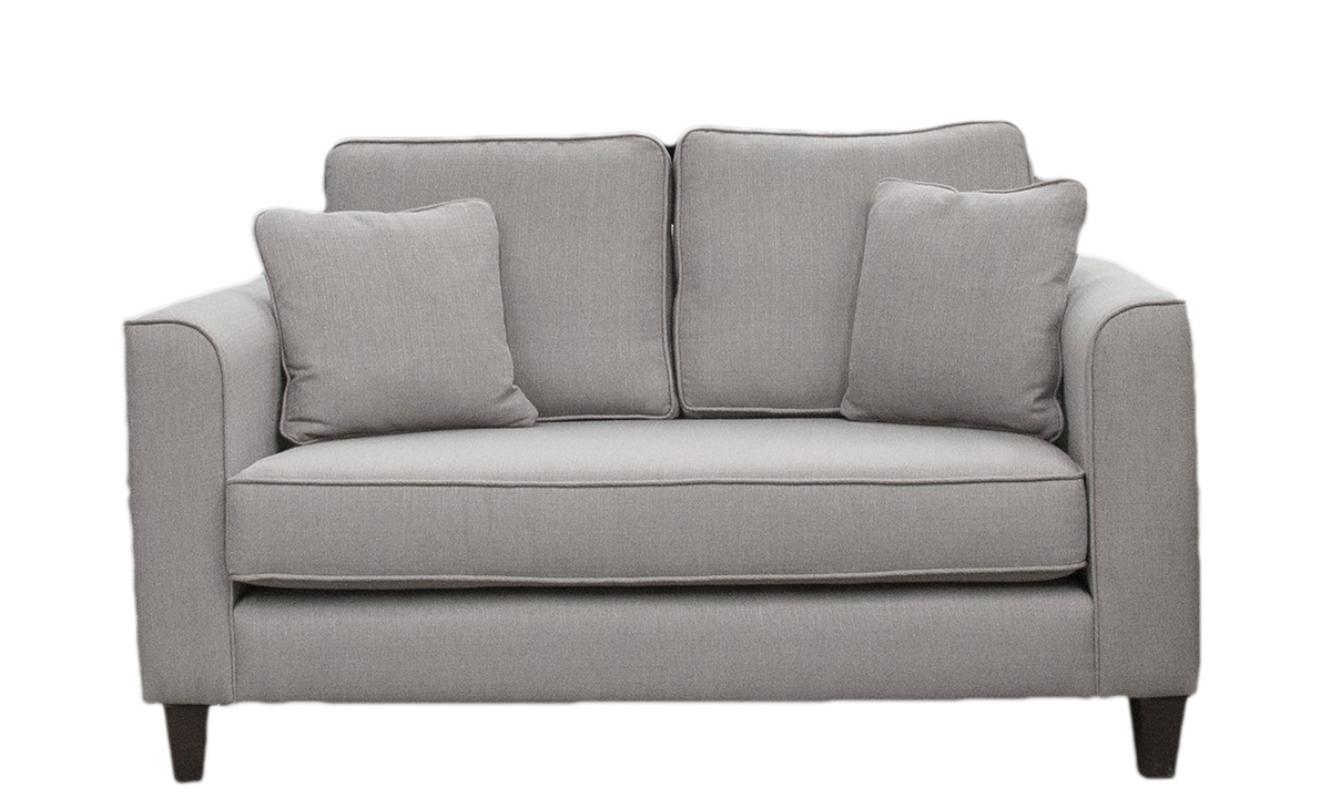 Nolan Small Sofa with a Bench Seat in Aosta Silver, Silver Collection