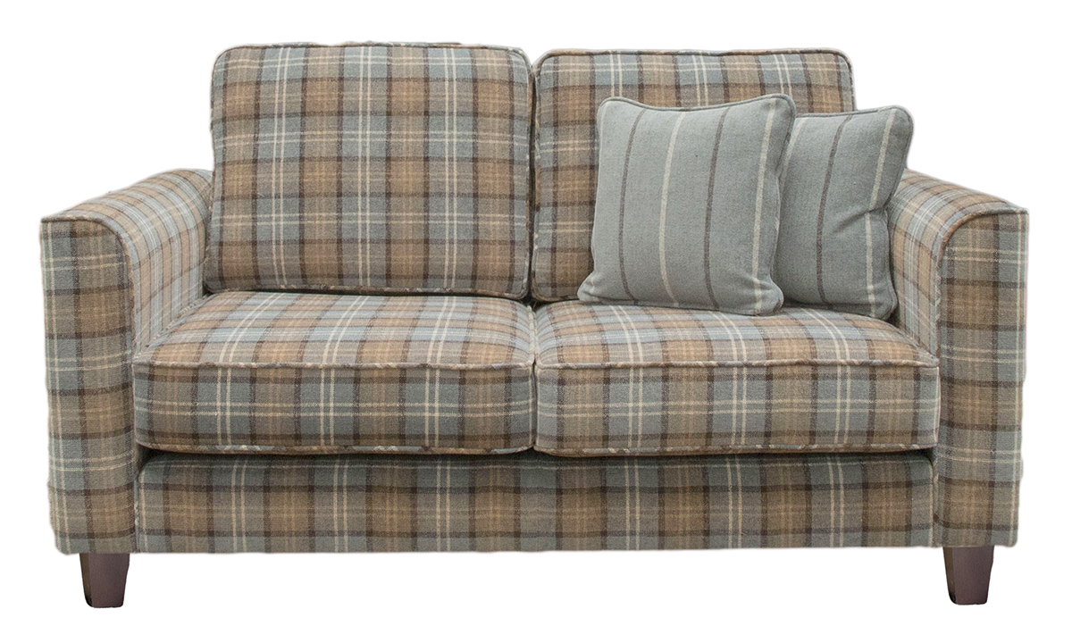Nolan 2 Seater Sofa in Fontington LAN1256 Check, Platinum Collection Fabric