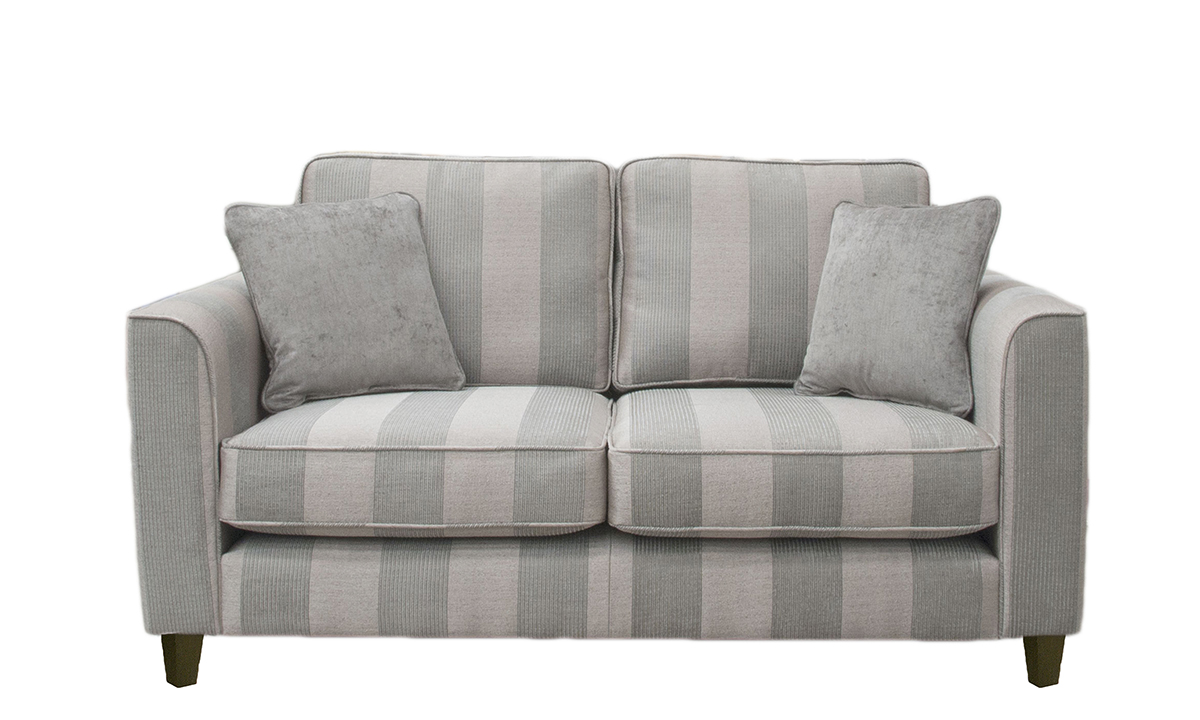 Nolan Small Sofa in Nebbiolo Stripe Powder Platinum Collection