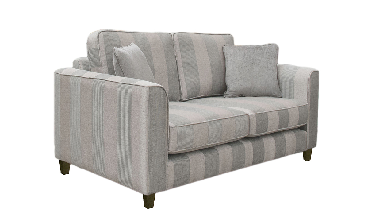 Nolan Small Sofa in Nebbiolo Stripe Powder, Platinum Collection side