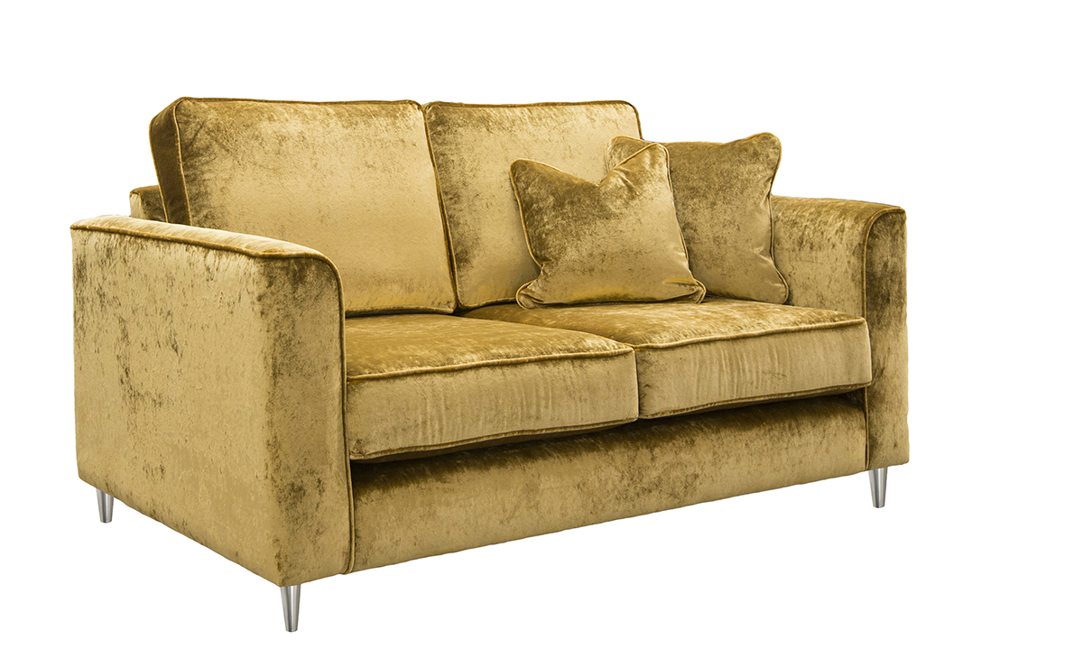 Nolan Small Sofa in Stella Mustard, Platinum Collection Fabric