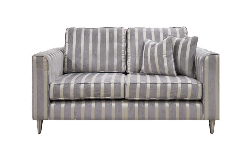 Nolan Small Sofa in Reflex Stripe Ocean, Silver Collection Fabric