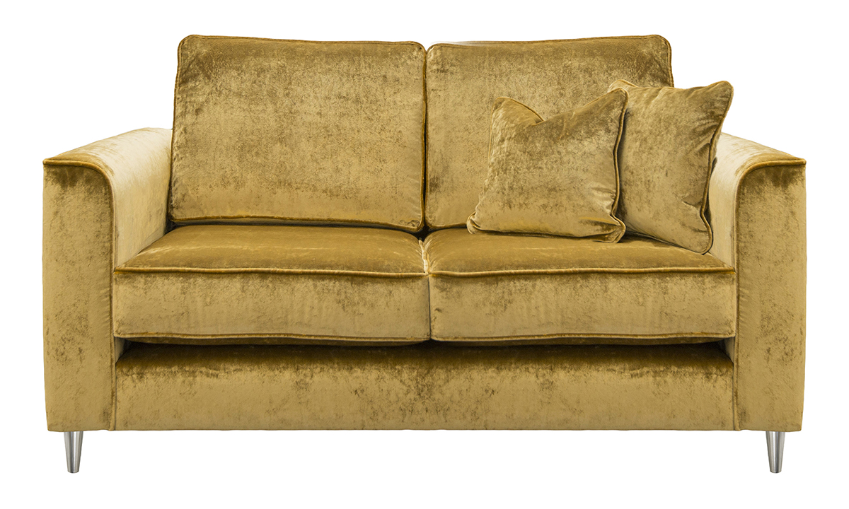 Nolan 2 Seater Sofa in Stella Mustard, Platinum Collection Fabric