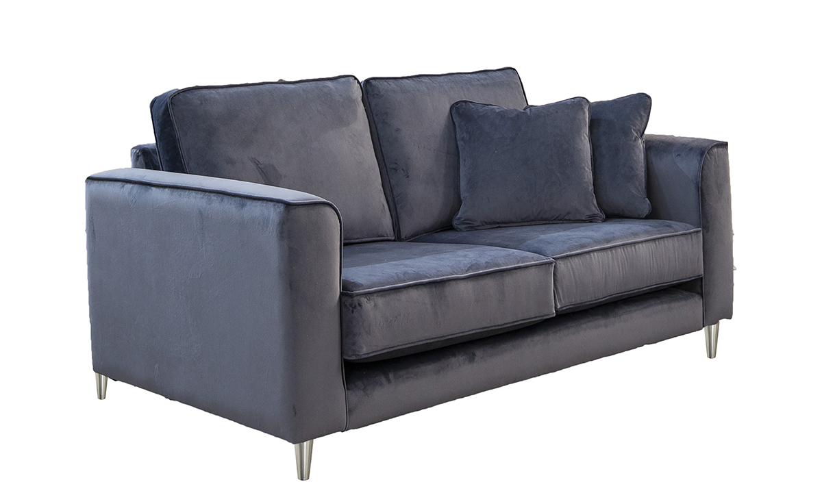 Nolan 2 Seater Sofa in Luxor Tempest, Silver Collection Fabric