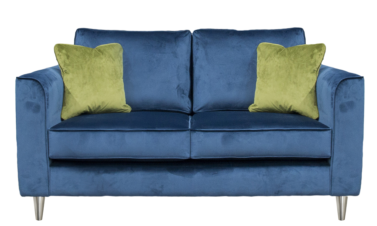 Nolan Small Sofa in Luxor Pacific, Platinum Collection Fabric