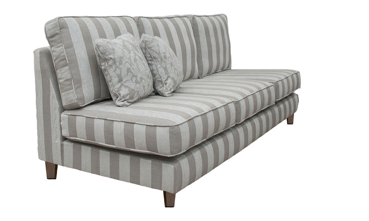 Bespoke Nolan Sofa, Arms Made Detachable in 18004, Bronze Collection Fabric