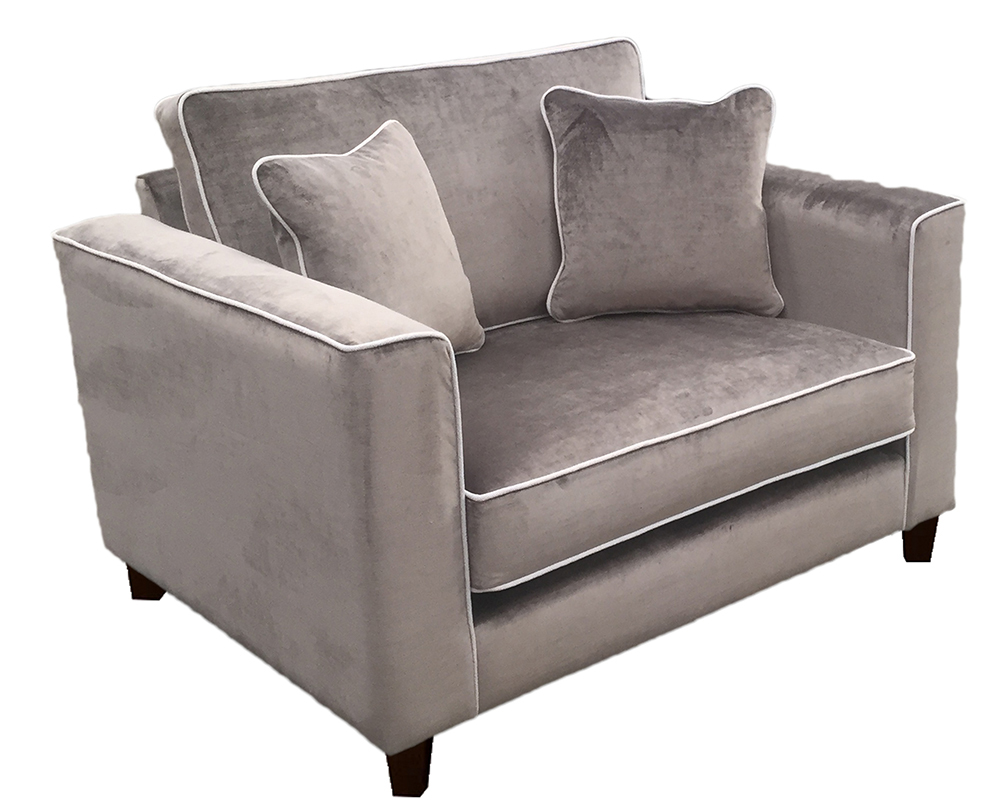 Nolan Love Seat Sofa - Velvet - Platinum Collectiona