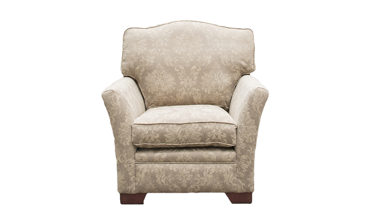 Othello Chair Dagano Pattern Linen Bronze Collection
