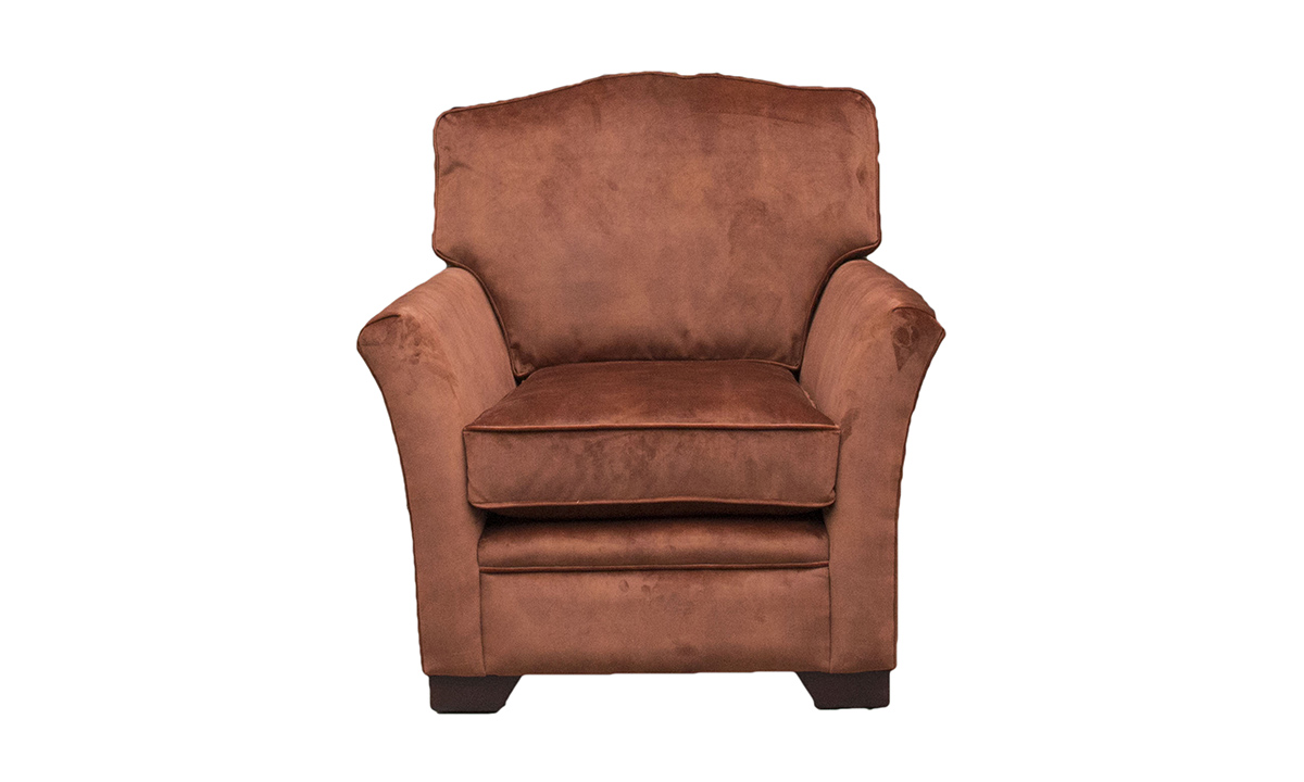 Othello Chair in Lovely Umber, Gold Collection Fabric