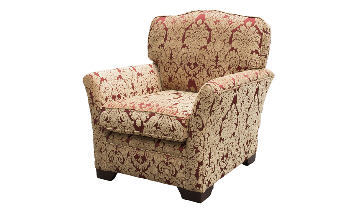 Othello Chair in Enjoy pattern, Platinum Collection Fabric