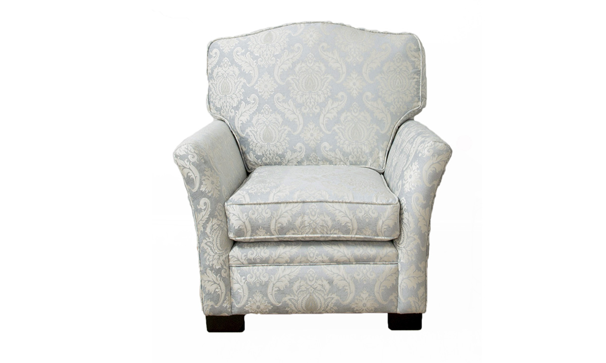 Othello Chair Tolstoy Pattern, Platinum Collection Fabric