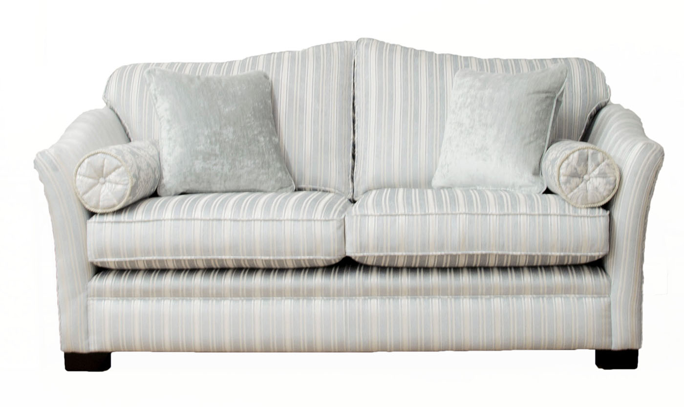 Othello Sofa Bed 4ft6 in Tolstoy Stripe Platinum Collection Fabric