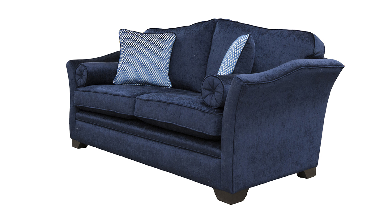 Othello Large Sofa Side in Edinburgh Carbon, Silver Collection Fabric.