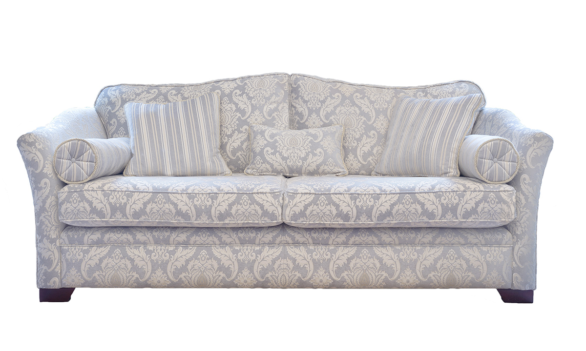 Othello Large Sofa Tolstoy Pattern Ocean Platinum Collectionn