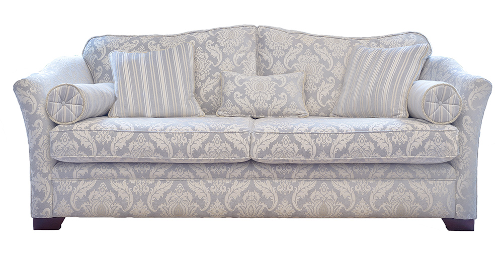 Othello Large Sofa  Tolstoy Pattern Ocean  Platinum Collection Fabric