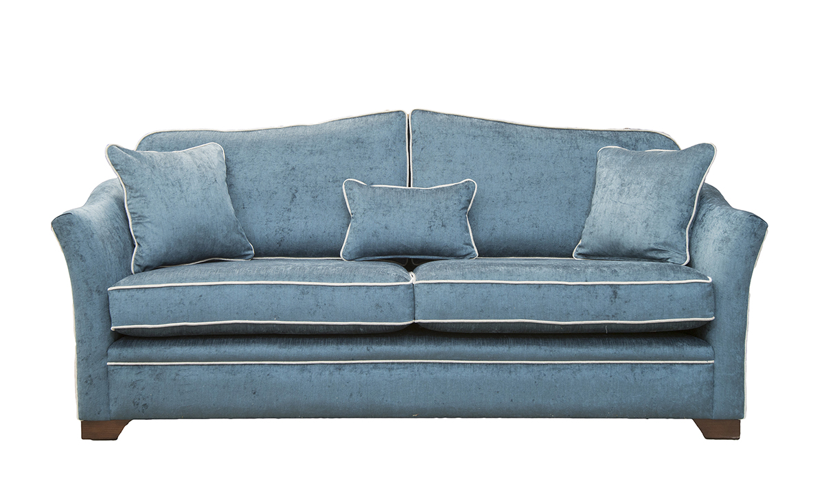 Othello Large Sofa in Edinburgh Petrol Silver Collection Fabric
