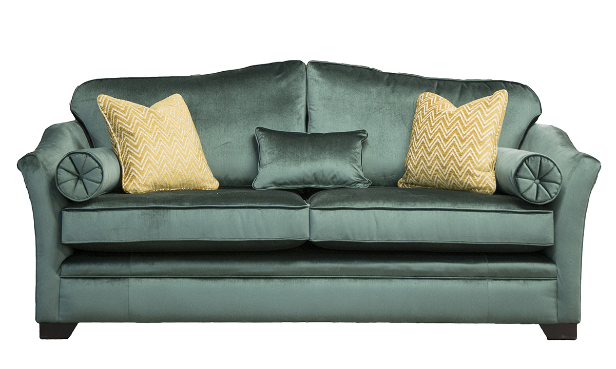 Othello-Large-Sofa-in-Erasmus-Lincoln-Green-Gold-Collection-Fabric