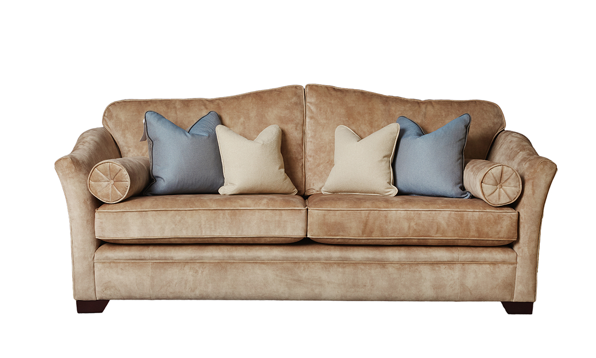 Othello 3 Seater Sofa in Lovely Mocha Gold Collection Fabric