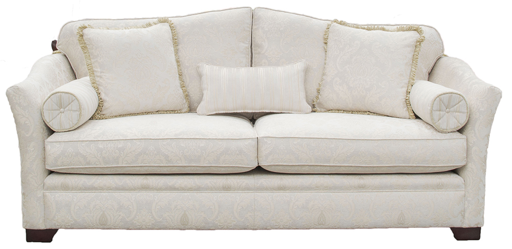 Othello Large Sofa in Tolstoy Pattern Snow  Platinum Collection Fabric