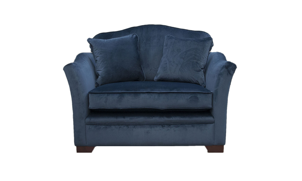 Othello Love Seat in Luxor Pacific Silver Collection Fabric
