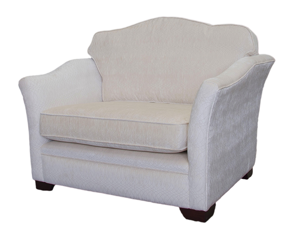 Othello Love Seat in Idylle Ivory Platinum Collection Fabric