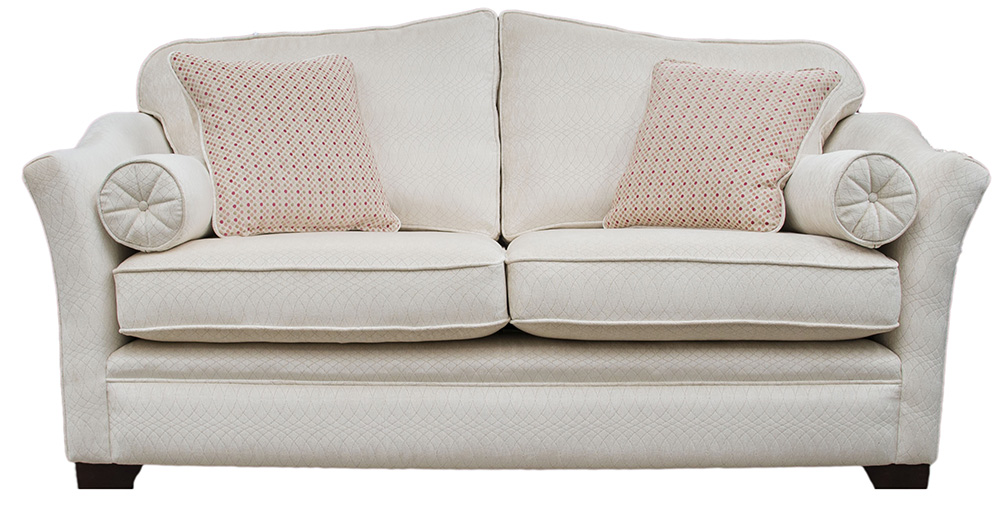 Othello Small Sofa  in Idylle Ivory Platinum Collection Fabric