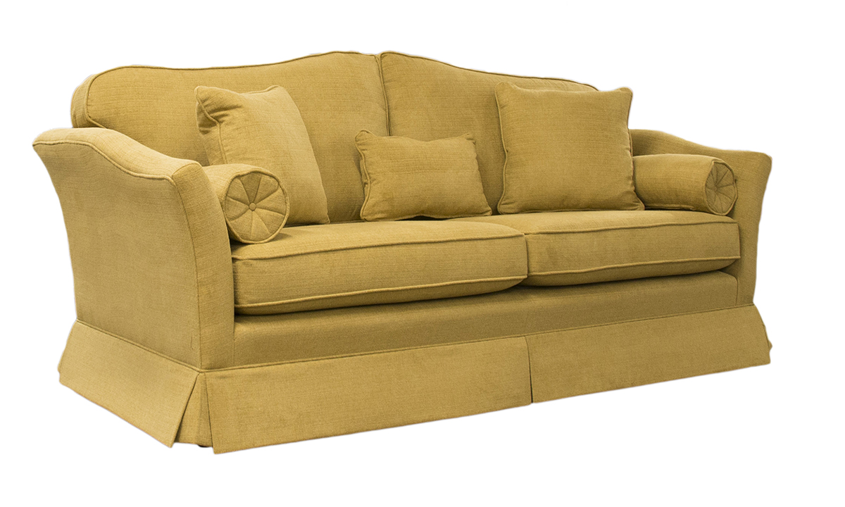 Othello Small Sofa Side in Warwick Pluch Taupe Platinum Fabric Collection
